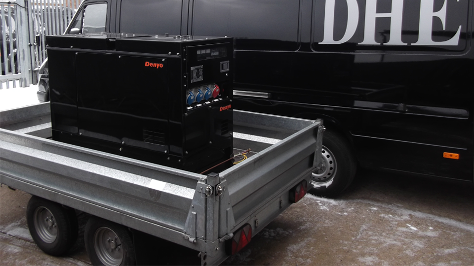 Worcestershire Stage Hire 12.5KVA Generator